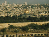 Old Jerusalem, the Dome of the Rock and the Ancient City Wall Photographic Print by Joel Sartore