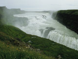 The Double Cascade Waterfall of Gullfoss, by Far Europes Most Powerful Waterfall Photographic Print by Sisse Brimberg