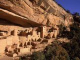 Ruins of the Anasazi Cliff Palace Occupied Between A.D. 550 and 1300 Photographic Print by Ira Block