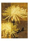 Golden Mums II Prints by Keith Mallett