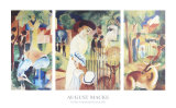 Zoo Triptich Prints by Auguste Macke
