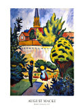 Children in the Garden Poster by Auguste Macke