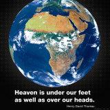 El cielo y la tierra Pósters