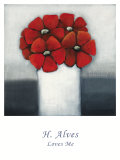 Loves Me Prints by H. Alves