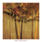 Sunset Palms II Prints by Amori