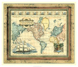 Map of the World Giclee Print