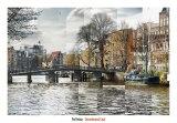 Zwanenburgwal Canal Art by Pep Ventosa