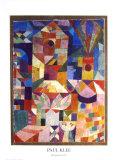 Una vista del jardín Póster por Paul Klee