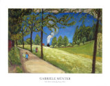 The Train in the Horizon Prints by Gabrielle Münter
