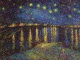 ローヌ河畔の星空, 1888 ポスター : フィンセント・ファン・ゴッホ