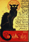 Reopening of the Chat Noir Cabaret, 1896 Stretched Canvas Print by Th&#233;ophile Alexandre Steinlen