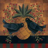 Crows and Pineapple Prints by David Harden
