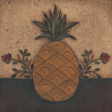 Pineapple Floral Prints by David Harden