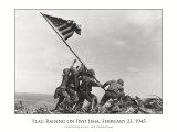 Lever de drapeau sur Iwo Jima, vers1945 Affiches par Joe Rosenthal