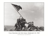 Izando la bandera en Iwo Jima, ca. 1945 Láminas por Joe Rosenthal