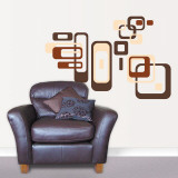 Retro Squares Wall Decal