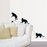 Silhouette Cats Wall Decal