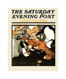 Red Fox Hunting, c.1905 Print by Charles Livingston Bull