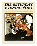 Red Fox Hunting, c.1905 Prints by Charles Livingston Bull