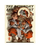 Santa&#39;s Lap, c.1923 Prints by Joseph Christian Leyendecker