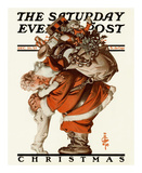 Hug from Santa, c.1925 Poster by Joseph Christian Leyendecker