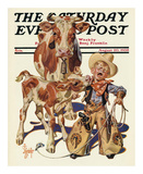 Little Cowboy Takes a Licking, c.1938 Art by Joseph Christian Leyendecker