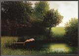 Kohler's Pig Framed Canvas Print by Michael Sowa
