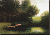 Kohler&#39;s Pig Stretched Canvas Print by Michael Sowa