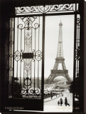 Paris, France, View of the Eiffel Tower Stretched Canvas Print by  Gall