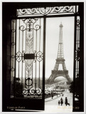 Paris, France, View of the Eiffel Tower Framed Canvas Print by  Gall
