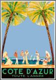 Cote d'Azur Framed Canvas Print by Jean-Gabriel Domergue