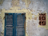 Weathered House with Shutters at Bastoni Marco Polo, Alghero, Sardinia, Italy Photographic Print by Martin Lladó