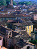 Rooftops and Buildings of Town, Lucca, Italy Photographic Print by Bethune Carmichael