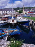 Fishing Boats Docked in Carnlough Harbour, Antrim, Northern Ireland Photographic Print by Gareth McCormack