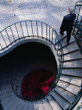 Businessman Ascending Stairs at Embarcadero Centre, San Francisco, California, USA Photographic Print by Roberto Gerometta
