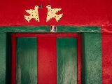 Detail of Painted House Facade, La Venta Del Sur, Honduras Photographic Print by Jeffrey Becom