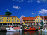 Village Harbour, Svaneke, Bornholm, Denmark Photographic Print by Anders Blomqvist