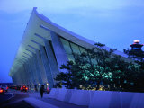 Dulles International Airport at Night, Washington Dc, USA Photographic Print by Rick Gerharter