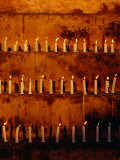 Rows of Candles at Mahabodhi Temple, Bodhgaya, Bihar, India Photographic Print by Richard I'Anson