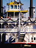 Creole Queen Boat on Mississippi River, Louisiana, Photographic Print