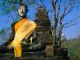Buddha at Wat Khao Phanom Phloeng, Si Satchanalai-Chaliang Historical Park, Sukhothai, Thailand Photographic Print by Anders Blomqvist