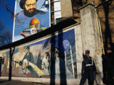 A Mural Depicting Middle Eastern Political Propaganda, Tehran, Iran Photographic Print by Patrick Syder