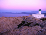La Pietra Lighthouse, Ile Rousse, Corsica, France Photographic Print by Olivier Cirendini