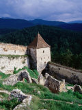 Watchtower and walls of Rasnov Castle, Brasov, Romania Photographic Print by Martin Moos