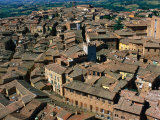 Rooftops and Buildings of City, Siena, Italy Photographic Print by Bethune Carmichael
