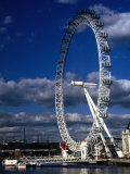 The Millennium Eye and Thames River, London, United Kingdom Photographic Print by Rick Gerharter