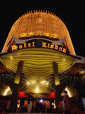 Hotel Lisboa Casino Entrance Lit Up at Night, Macau, China Photographic Print by Lawrence Worcester