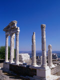 Marble-columned Temple of Trajan, Bergama, Turkey Photographic Print by Martin Moos