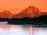 Sunrise Over Mt. Moran in the Teton Ranges, Grand Teton National Park, Wyoming, USA Fotografisk trykk av John Elk III