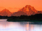 Sunrise Over Mt. Moran in the Teton Ranges, Grand Teton National Park, Wyoming, USA Photographic Print by John Elk III
